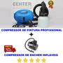 Compressor De Ar Direto Encher Tufão Elétrico Pintar Carro