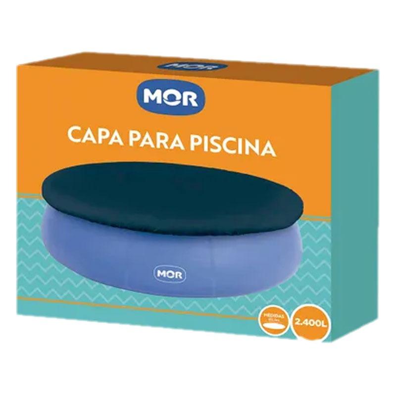 KIT PISCINA INFLÁVEL REDONDA SPLASH FUN 2400 LITROS MOR + CAPA DE PISCINA
