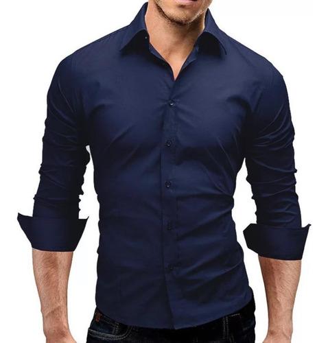 Camisa Social Masculina Slim Fit Luxo Pronta Entrega Original