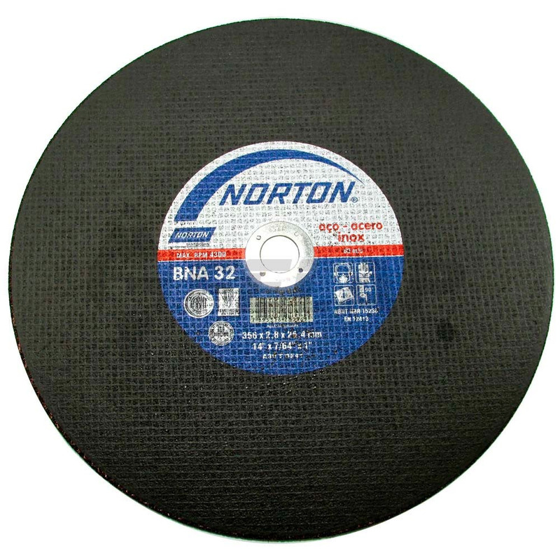 Disco de Corte BNA32 Norton 356 x 2,8 x 25,40mm