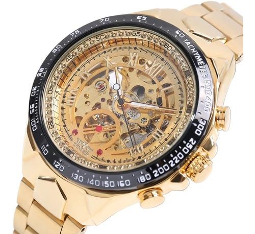 Relógio Mecânico Automático, Dourado. Original