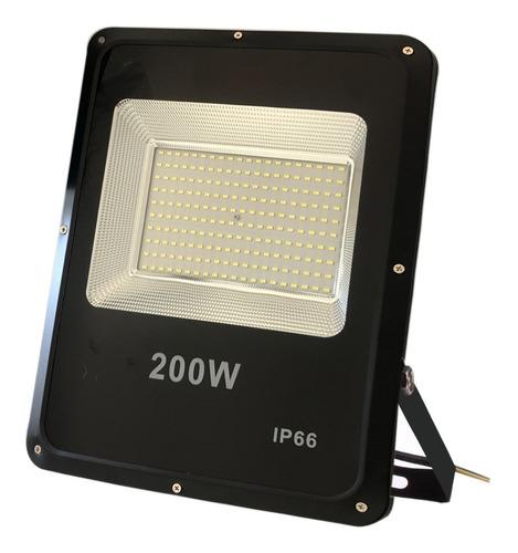 Refletor Holofote Micro Led Smd 200w Bivolt Ip66 Branco Frio Original