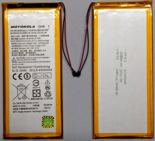 Bateria Motorola Moto G4 Plus Ga40 Xt1626 Xt1640 Lacrada