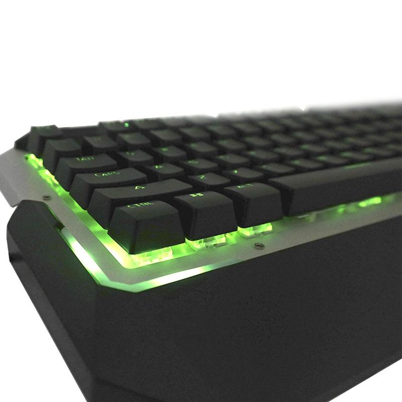 Teclado Gamer Mecânico com LED Verde Warrior Multilaser - TC217