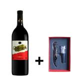 Kit Vinho Tinto Tradicional 720ml + Saca Rolhas c/ 2 Peças - Canguera