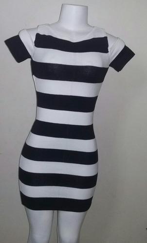 Vestido Tricô  Listado Curto Original