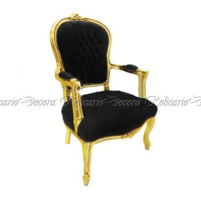 Cadeira de Braço Poltrona Capitonê c/ Folha de Ouro Luiz XV Entalhes Unicos Impecavel