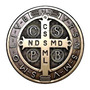 2 Adesivos Medalha De São Bento Cruz 10 Cm Frete Grátis