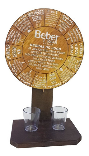Jogo Da  Roleta Beber Drink Diversão  Promoção Brincadeira Original