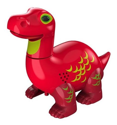 Dinossauro Rugem Cantam Brotossauro Vermelho Apollo Dtc 3681 Original
