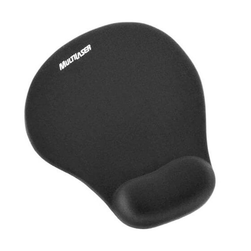 kit Teclado e Mouse Preto + Apoio de Pulso + Mousepad + Descanso para os Pés + Suporte Para Monitor