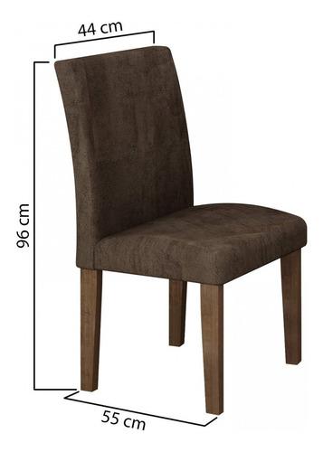 Mesa De Jantar Tampo De Vidro 6 Cadeiras Classic Cel Eb Original