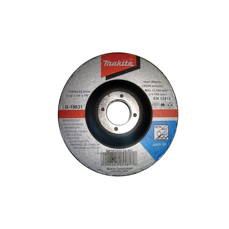 "Esmerilhadeira Angular 115mm (4 1/2"") + Disco - 9557HNGBR - Makita"