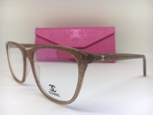 Armação Oculos Grau Feminino Chanel Original Frete Gratis à venda em ... a92487b010