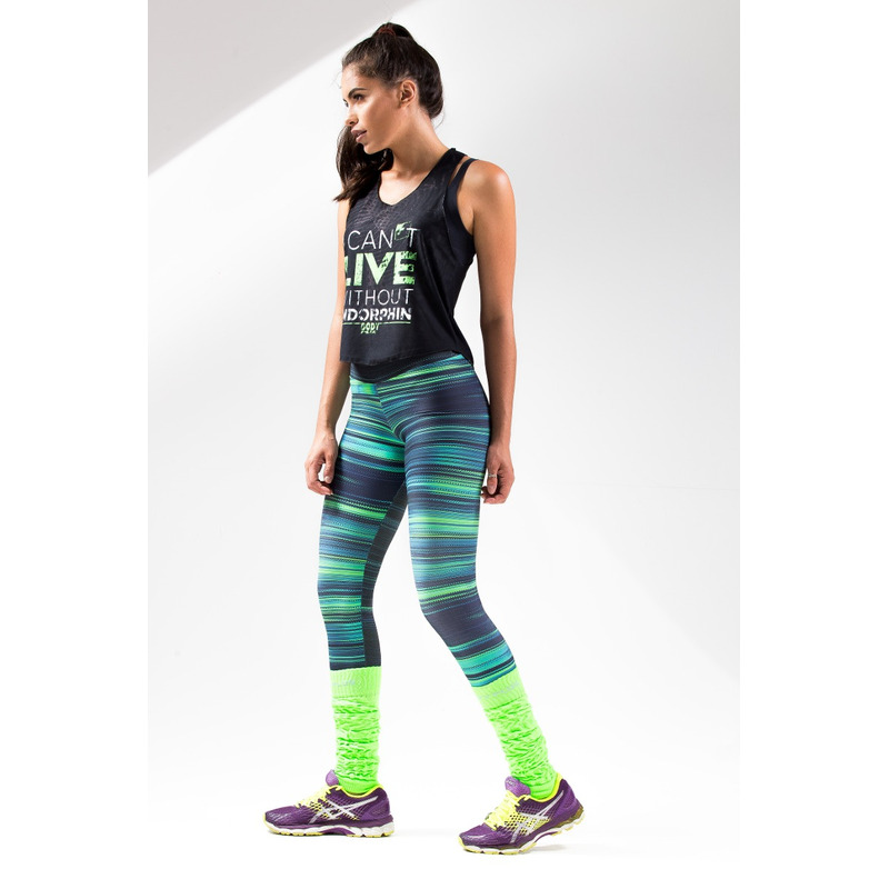 Legging Estampada Light Listras Verdes