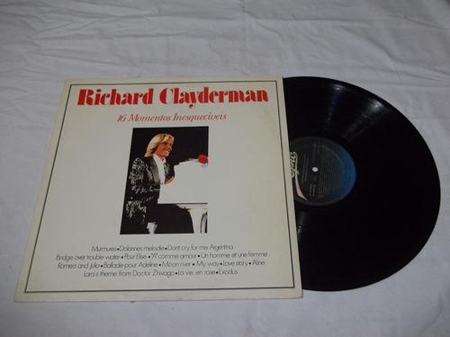 Vinil Lp - Richard Clayderman - 16 Momentos Inesquciveis Original