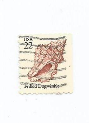 Selo Estados Unidos,vida Marinha 1985 Conchas,usado. Original