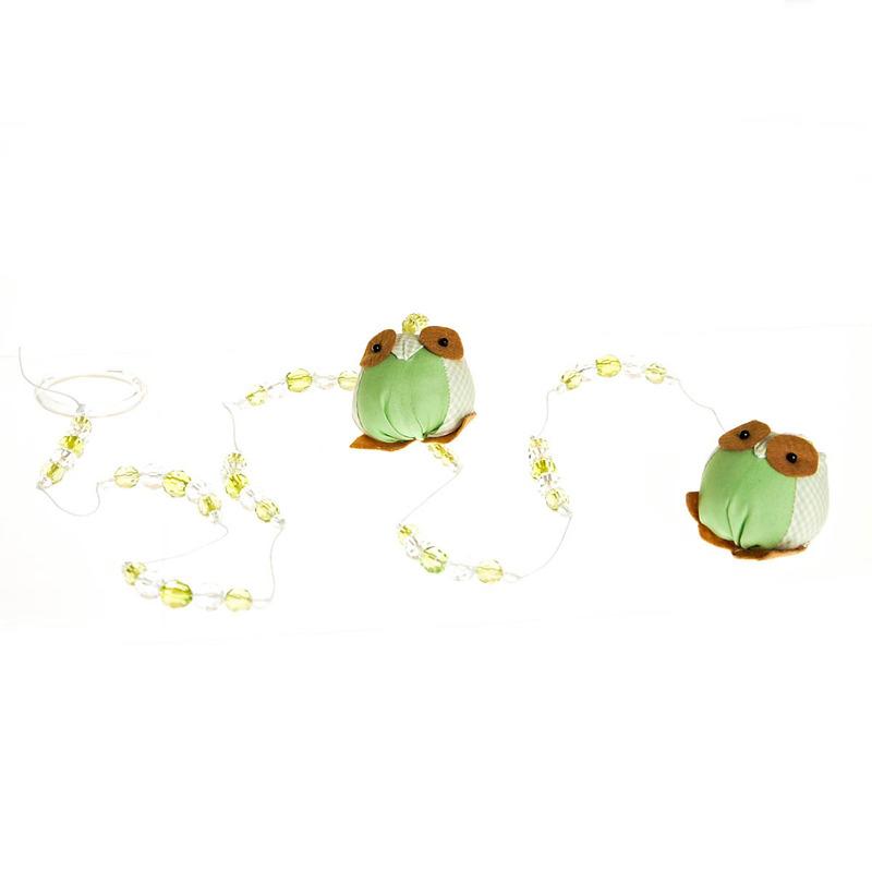 Pingente De Cortina Coruja Verde (Unidade)
