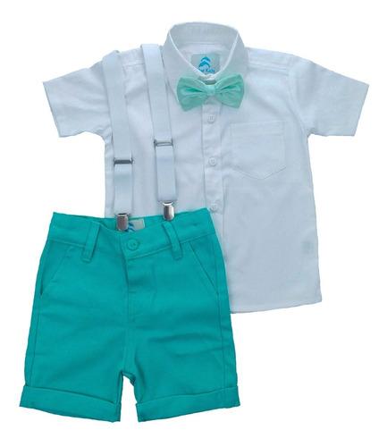 Conjunto Infantil Camisa Branca Batizado