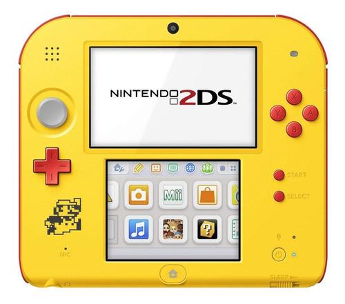 Nintendo 2ds Super Mario Maker Edition Amarelo E Vermelho Original