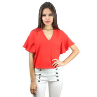 CAMISETA CROPPED RED MANGA BORBOLETA - RBL00036