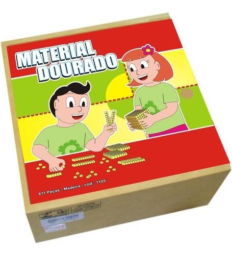 Material Dourado 611 Pçs - 1105ca Original