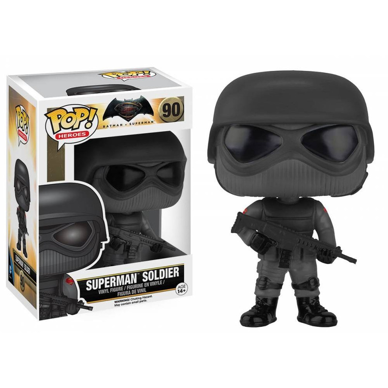 Pop Vinyl Superman Soldier - Filme Batman Vs Superman- Funko