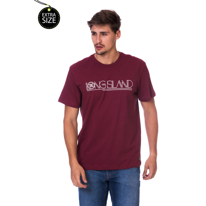 Camiseta Long Island Plus Size TQ Bordô