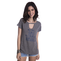 Blusa Long Island Bad Cinza