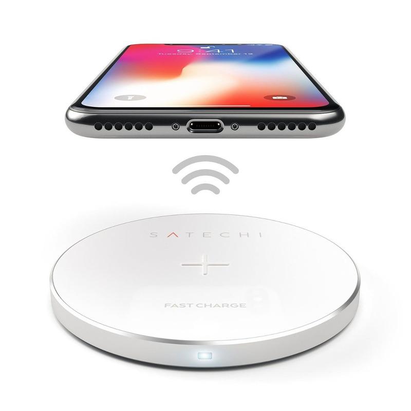 Satechi Base Carregadora Wireless Silver ST-WCPS 6426