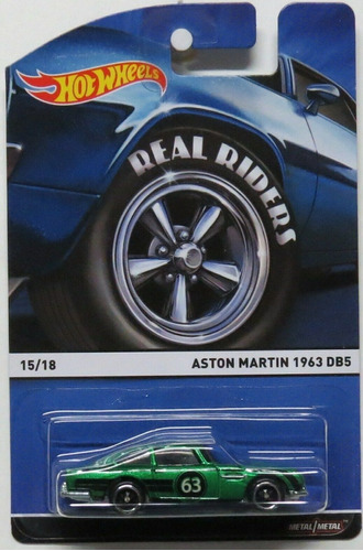 Hot Wheels Aston Martin 1963 Db5 Real Riders 15/18 Lacrado Original
