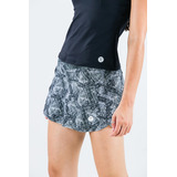 Saia Shorts Estampada Light Barrado Arame