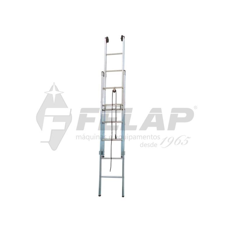 Escada Extensível Alulev 7/12m (2 x 22 Degraus)