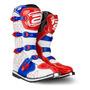 Bota Motocross Trilha Asw Core Branco Vermelho 13 (44/45)