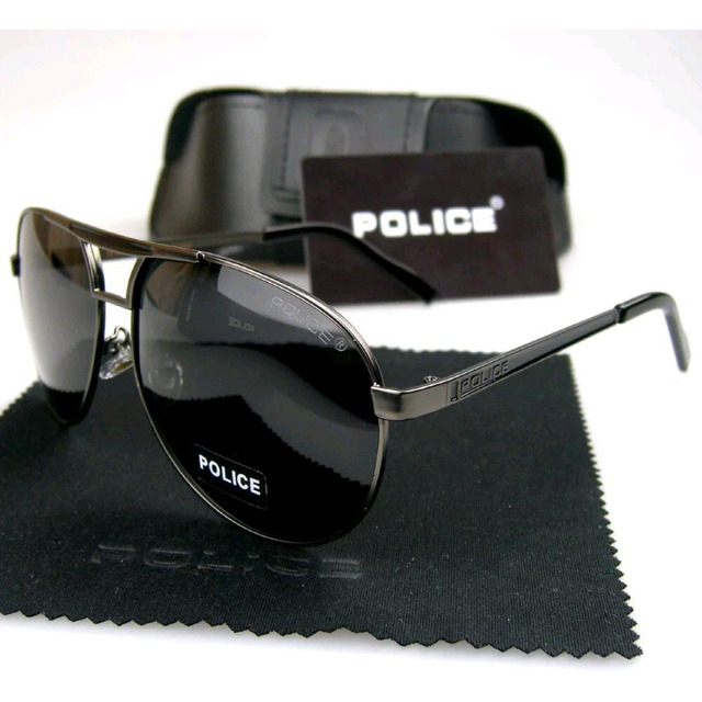 a97dfd847 Óculos De Sol Polarizado Police 100% Uva-b Masculino Aviador em ...