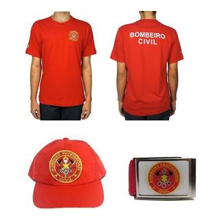 94921f2abb Camiseta Brasão Bombeiro Civil + Cinto + Boné R$ 85,00. São Paulo, São Paulo