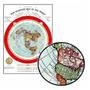 Mapa Do Mundo 60cmx84cm Terra Plana Para Fazer Quadro Quarto