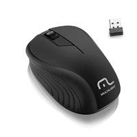 Mouse Sem Fio Multilaser Wave Preto 1200 DPI Anatômico - MO212
