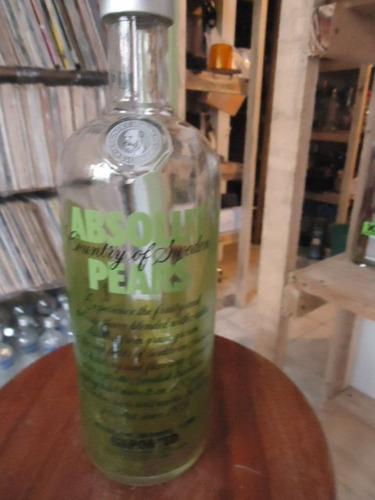 Vodka Absolut  Pears Vazia 1000ml  orgulhodoml2] N013 Original