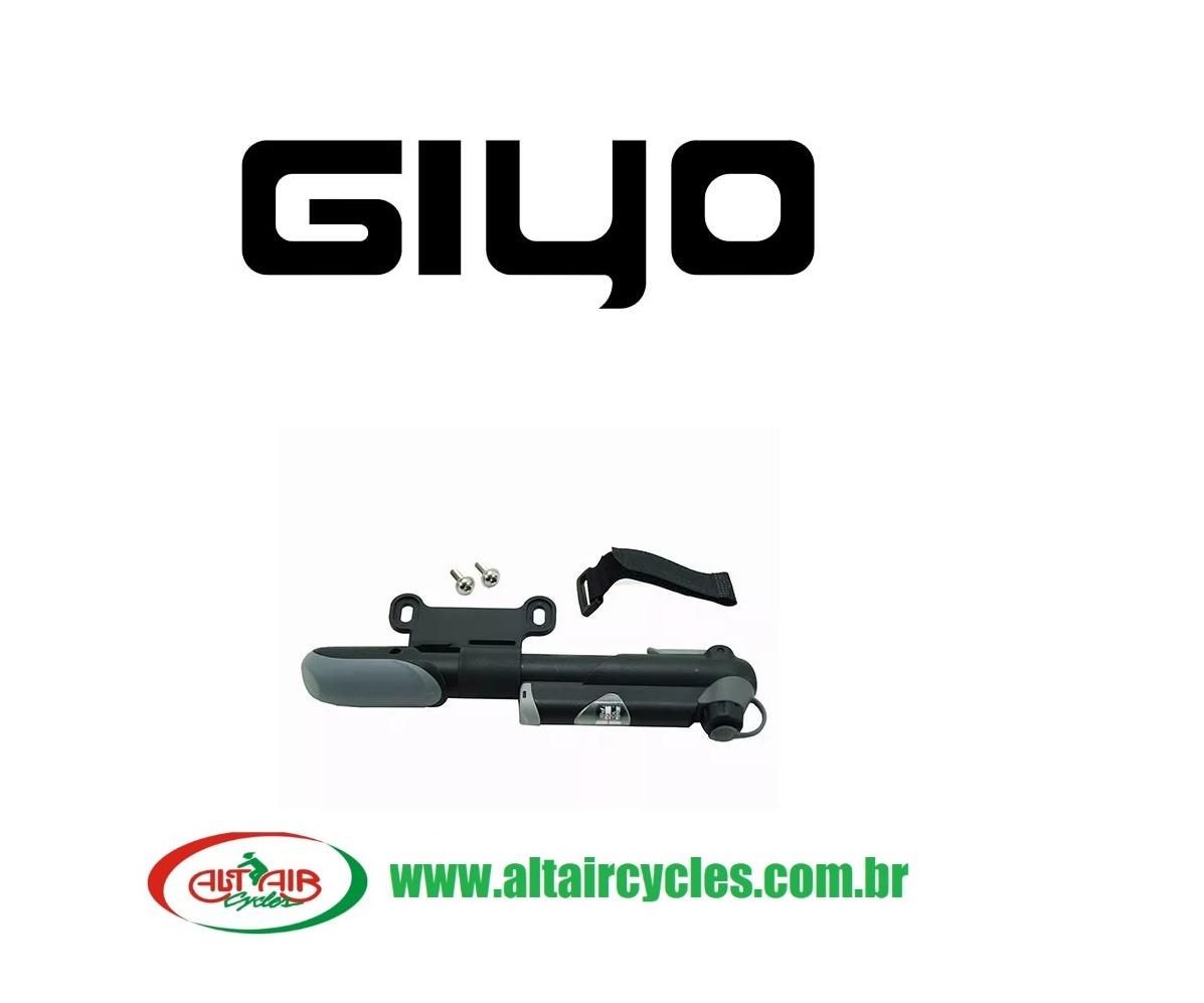BOMBA AR GIYO GP61S TELESCÓPICA COM MANÔMETRO