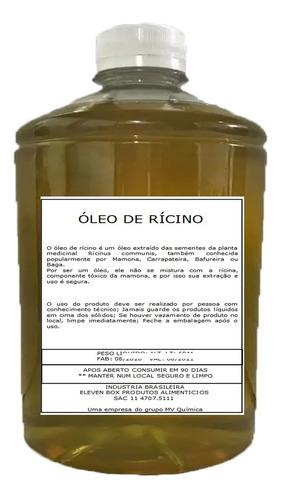 1 Lt Óleo De Rícino Puro C/ Laudo De Análise  Cabelo Original