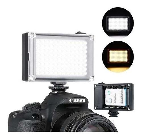 Iluminador Led Hd-160 Camera Canon 70d T5i 96 Leds Original