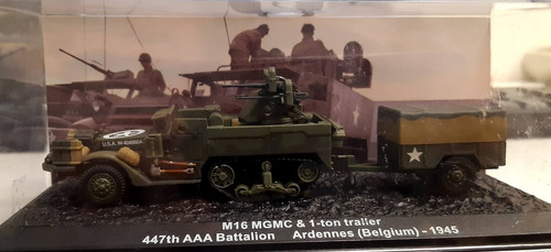 Blindado De Combate 1/72 M16 Mgmc & 1-ton Treiller Altaya Original