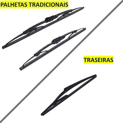 Par Palheta Limpador Modelo  Tradicional + Traseira Original