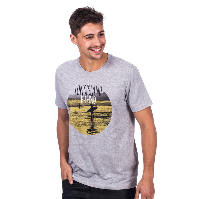 Camiseta Long Island Brand Cinza