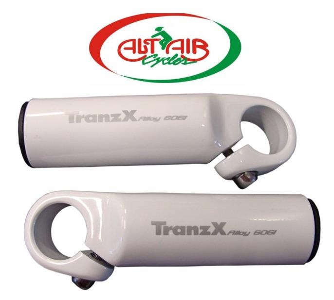 BAR ENDS TRANZ-X ALUMÍNIO BRANCO MOD895