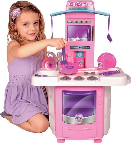 Fogãozinho Panelinha Cozinha Infantil Master Fogao Big Chef