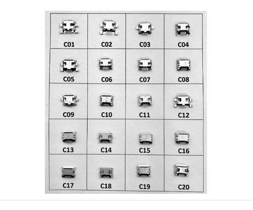 Conector Carga - Cel. Tablet Micro Usb V8 Kit - Com 20 Peças Original