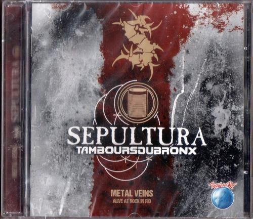Cd Sepultura Tamboursdubronx Alive Rock In Rio 2014 Lacrado Original
