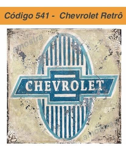 02 Adesivos Vinil Chevrolet Retrô - 6x6 Cm Original